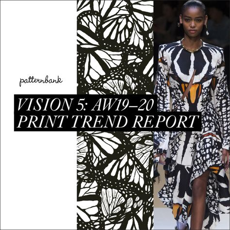 Welcome to Patternbank's fifth print and pattern trend report for Autumn/Winter 2019/20 We aim to innovate and inspire you and your team so you are ahead #trend #trends #fashiontrends