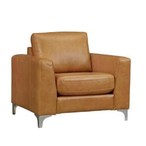 Homesullivan Russel Caramel Leather Arm Chair 40e938cm 1bchr