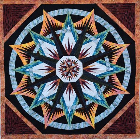 Mariner's Compass, Quiltworx.com, Made by CI Judy Bowers.