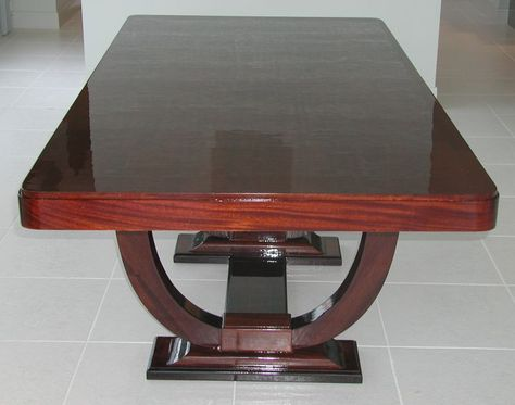 Custom French Deco Dining Table In A Classic Jacques Emile