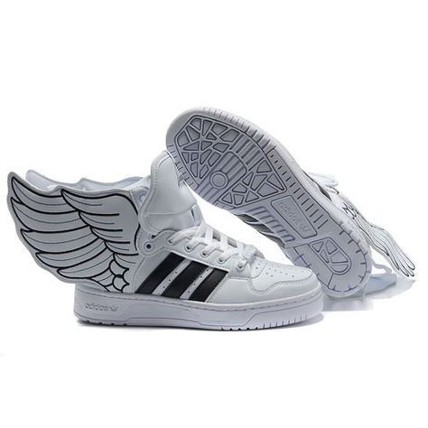 4f6c1c5cc398 JS Women s adidas Originals Jeremy Scott Wings 2.0 Shoes - White Black