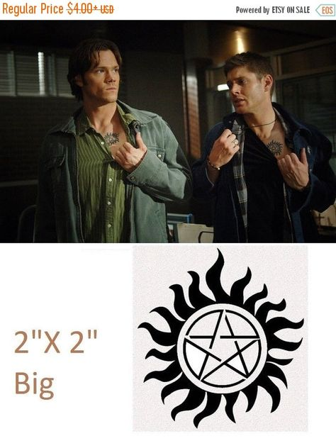 Spooky Sale 2 INCH Supernatural Sam and Dean by Christalinasales