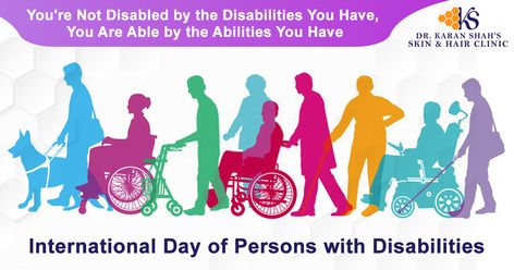 Let Your Ability Define You rather than Your Disability !!  This #WorldDisabilityDay let's promote an understanding of people with disability and encourage support for their dignity, rights and well-being .  #InternationalDisabilityDay #Happiness #Success #Disable #Successful #Ability #Disability #Dignity #Rights #DrKaranShahSkinAndHairClinic #DrKaranShah