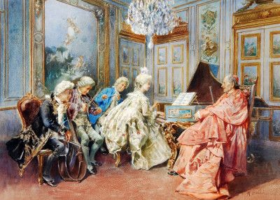 The Recital Puzzle In Piece Of Art Jigsaw Puzzles On Thejigsawpuzzles Com Play Full Screen Enjoy Puzzle Of The Day A Puzzle Art Baroque Painting European Art