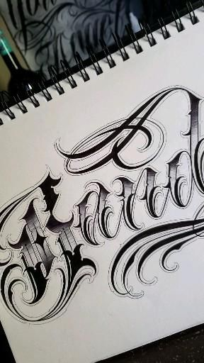 Tattoo Lettering Font Idea ⚡