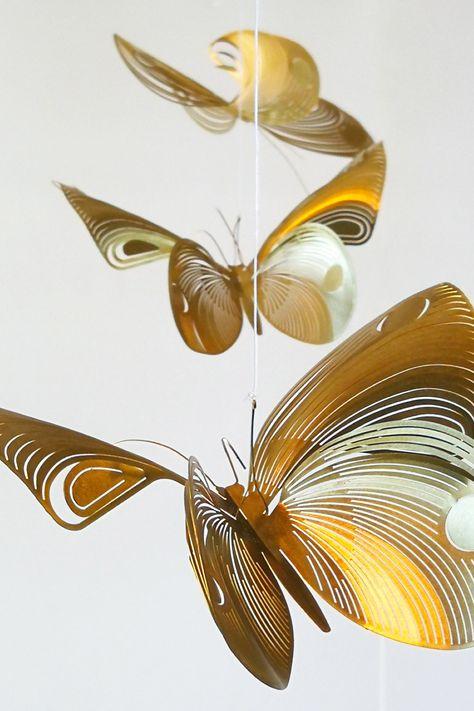 Brass Butterfly Mobile