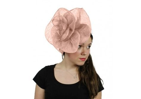 8f22dc0f8ad9e Cuban Rose Baby Pink Fascinator Hat for Weddings