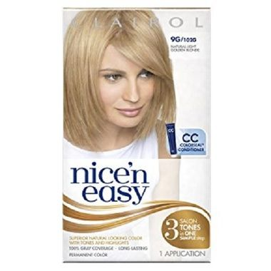 Clairol Nice N Easy Permanent Hair Color 9g Natural Light Golden