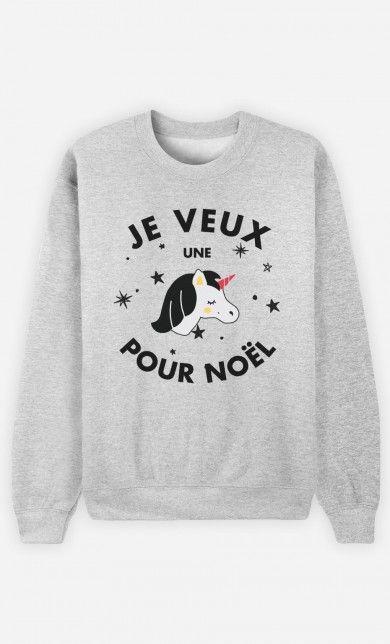 quality products cheap sale shoes for cheap Sweat Je Veux une Licorne pour Noël   Adidas   Vetement ...