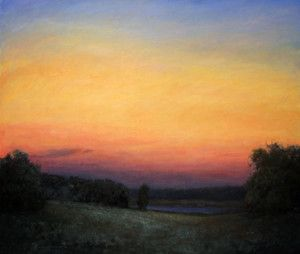 Evening S Silence 52 X 60 10 000 Landscape Oil Painting Painting