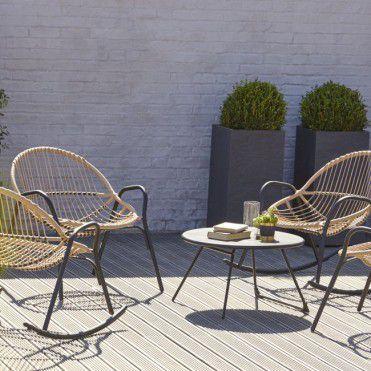 Stolik Blooma Nova 70 Cm Czarny Stoly Meble Ogrodowe Outdoor Furniture Outdoor Furniture Sets Outdoor Chairs