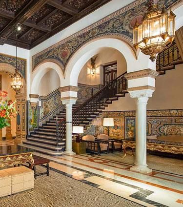 Hotel Alfonso Xiii Seville Spain One Of The City S Iconic Mudejar Monuments Legendary Is Work Local Architect Jose