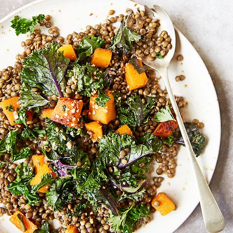 This hearty salad is iron rich and full of tasty puy lentils