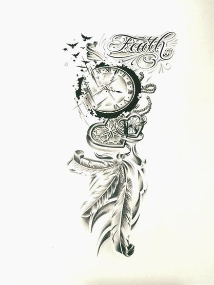 3 0 6 8 4 Tatoeages Frauen Arm In 2020 Sleeve Tattoos For Women Feminine Tattoo Sleeves Clock Tattoo