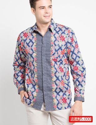 23 Model Baju Batik Pria Lengan Panjang Kombinasi Yang Perlu Kalian