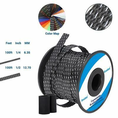 Ad Ebay 100ft 1 4 Inch Flexible Pet Expandable Braided Cable Sleeve Premium Wire New In 2020 Wire Ebay Cable