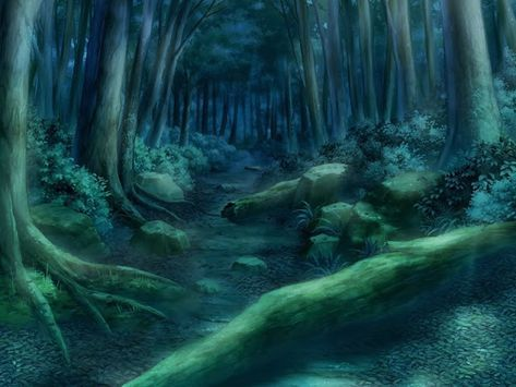 Green Forest Path At Night Anime Background Anime Background Forest Scenery Landscape Background