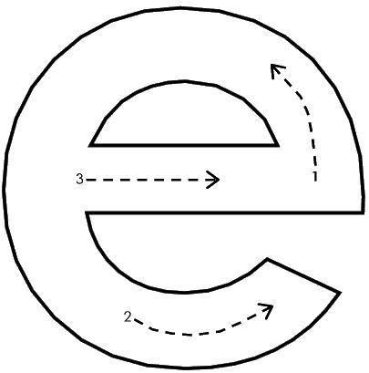 Letra E Harfler Escritura Preescolar Ingles Para