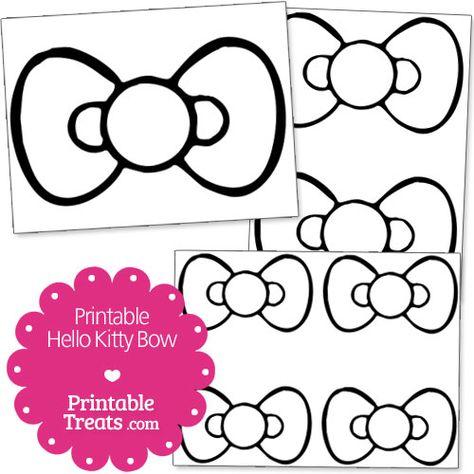 Free Printable Hello Kitty Bow - Printable Treats