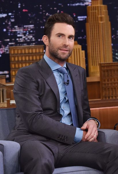 """Musician Adam Levine visits """"The Tonight Show Starring Jimmy Fallon"""" on April 28, 2016 in New York, New York."""