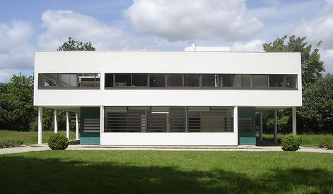 International Style Architecture The 5 Points Supports Free Facade Horizontal Windows Roof Gardens