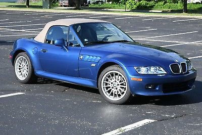 2001 Bmw Z3 Bmw Z3 Roadster 3 0i 2001 Topaz Blue Very Good