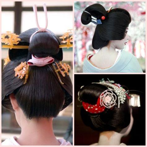 geisha Coiffures japonaises, Chignon japonais et Japon