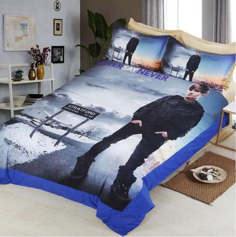 Justin Bieber 3d Bedding Set Print Duvet Cover Set Twin Full Queen