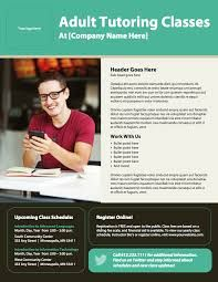 training flyers templates