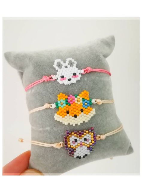 """ 🦉🐰🦊"" #motifpauline_eline for the fox . . #miyukibeads #miyuki#brickstitch #handmade #jewelry #jewellery #aksesuar #accessories #takitasarim #taki#tasarim #like#animal#bijuteri #beadswork #elyapimi #instagood #instalike #instadaily #siparisalinir #hediyelik #bileklik #bracelet #moda#trend#fashion#adu#aydin"