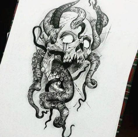 Schädel Tattoo Ideen - Skull Tattoo - Garden Planting - Home DIY Cheap - Blonde Hair Styles - DIY Jewelry Vintage Dark Art Tattoo, Tattoos, Skull, Skull Art, Art Tattoo, Tribal Dragon Tattoo, Dark Tattoo, Octopus Tattoo Design, Demon Tattoo