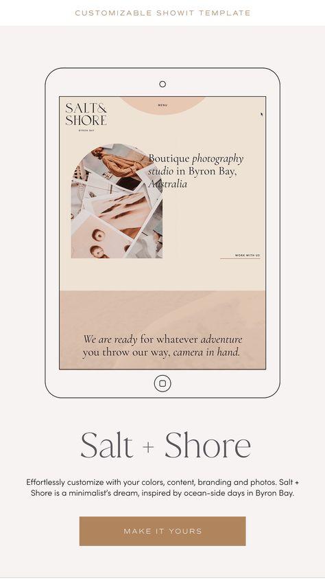 Salt + Shore | Effortless Showit Website Template for Creative Brands
