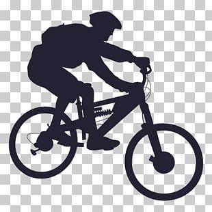 Hombre Montado En Bicicleta Ilustracion Bicicleta De Montana Bicicleta Ciclismo Silueta Bmx Png Clipart Bike Art Bike Mountain Clipart