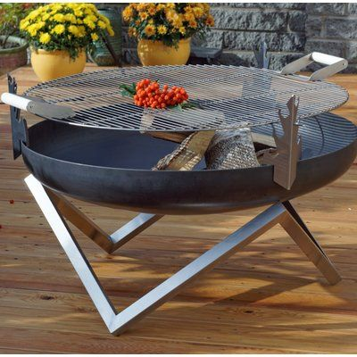 Curonian Stainless Steel Round Grill Grate | Fire pit, Steel