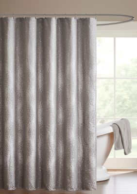 Madison Park Quinn Shower Curtain Grey 72 In X 72 In