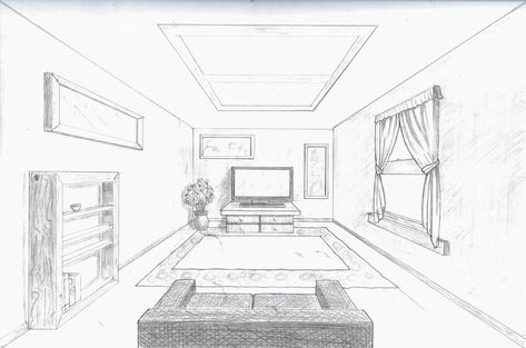 Single Point Perspective Room By A Rob On Deviantart Room Perspective Drawing Perspective Drawing Lessons Perspective Room