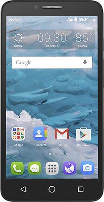 Cricket Wireless Alcatel Onetouch Flint 4g With 16gb Memory Prepaid Cell Phone Cell Phone Contract Cricket Wireless Smartphone