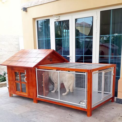 Dog House Cottage With Ac Outer Cage Dog House Dog House For Sale Cool Dog Houses