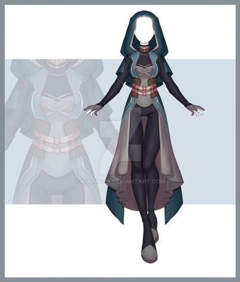 [Close] Adoptable Outfit Auction 274 by Kolmoys on DeviantArt Hero Costumes, Character Costumes, Character Outfits, Teacher Costumes, Clothing Sketches, Dress Sketches, Fashion Design Drawings, Fashion Sketches, Cosplay Outfits