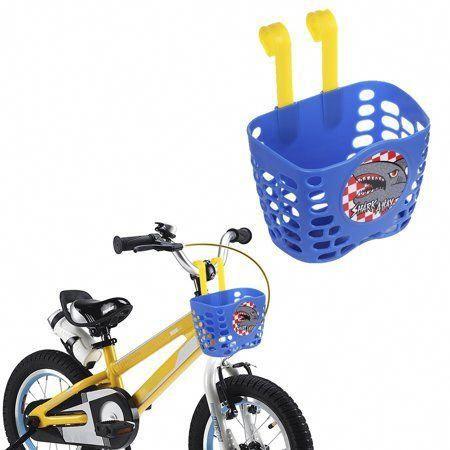 Kid Boy S Bike Basket Mini Factory Cute Cartoon Blue Shark Attax Pattern Bicycle Handlebar Basket For Boys Walmart Com Coolb Boy Bike Bike Basket Kids Bike