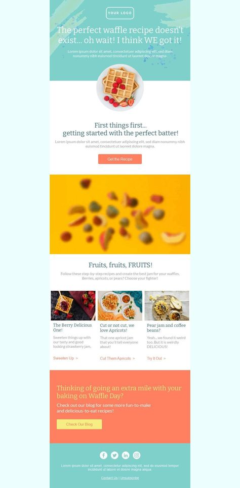 The Perfect Waffle Recipe - Email Template