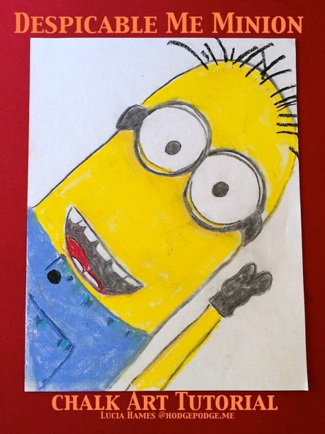 How to Draw a Despicable Me Minion with Chalk Pastels
