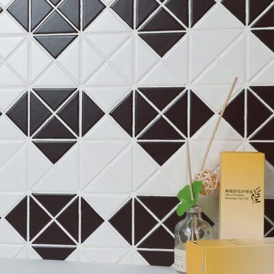 Elitetile Trian Multi Diamond 1 X 2 Porcelain Mosaic Tile Mosaic Tiles Stone Mosaic Tile Mosaic Patterns