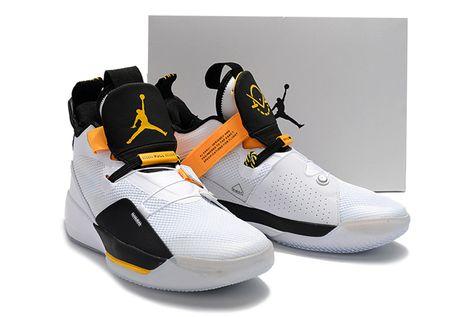 premium selection 45570 e21e4 2018 Air Jordan 33 Oladipo PE White Black-Yellow