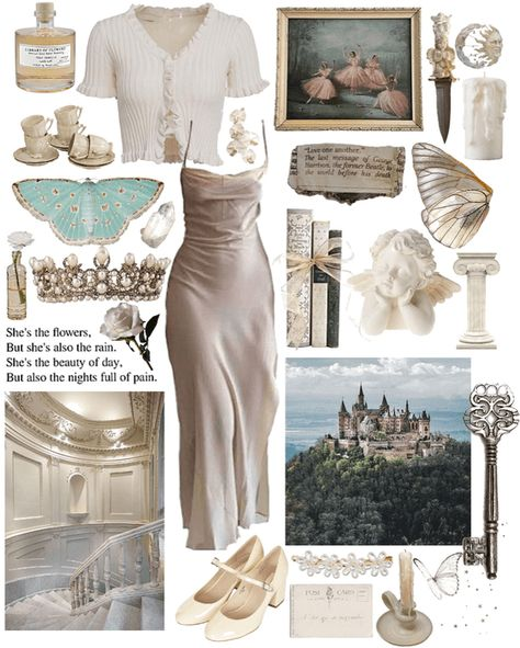 royal white - an evening story Outfit Moda Aesthetic, Angel Aesthetic, Classy Aesthetic, Aesthetic Fashion, Aesthetic Clothes, Cool Outfits, Fashion Outfits, Fashion Skirts, Princess Aesthetic