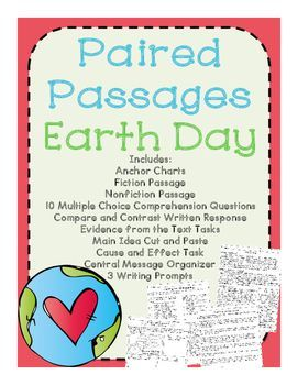 Earth Day Reading Comprehension Paired Passages | Science Ideas