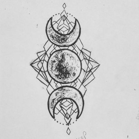 Trendy Tattoo Moon Symbol Triple Goddess - You are in the right place about Trendy Tattoo Moon Symbol Triple Goddess Tattoo Design And Sty - Heidnisches Tattoo, Pagan Tattoo, Wiccan Tattoos, Tattoo Moon, Sailor Moon Tattoos, Witchcraft Tattoos, Symbols Tattoos, Witch Tattoo, Card Tattoo