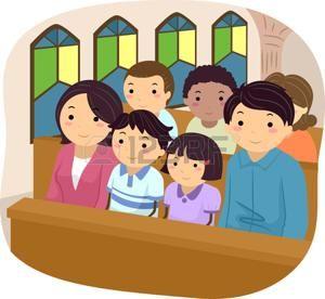 Resultado De Imagen Para Imagenes De Familias Orando En Una Iglesia Animados Clip Art Church Logo Sunday School Crafts