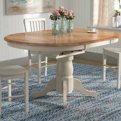 Beachcrest Home Florentia 5 Piece Extendable Solid Wood Dining Set