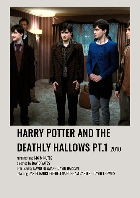 Harry Potter and the Deathly Hallows minimalist polaroid movie poster